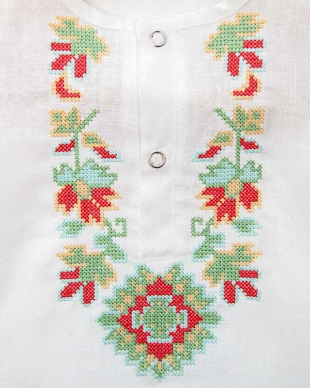 Рубашка детская СБ-022 Белый 100% лен Chichka - фото 5