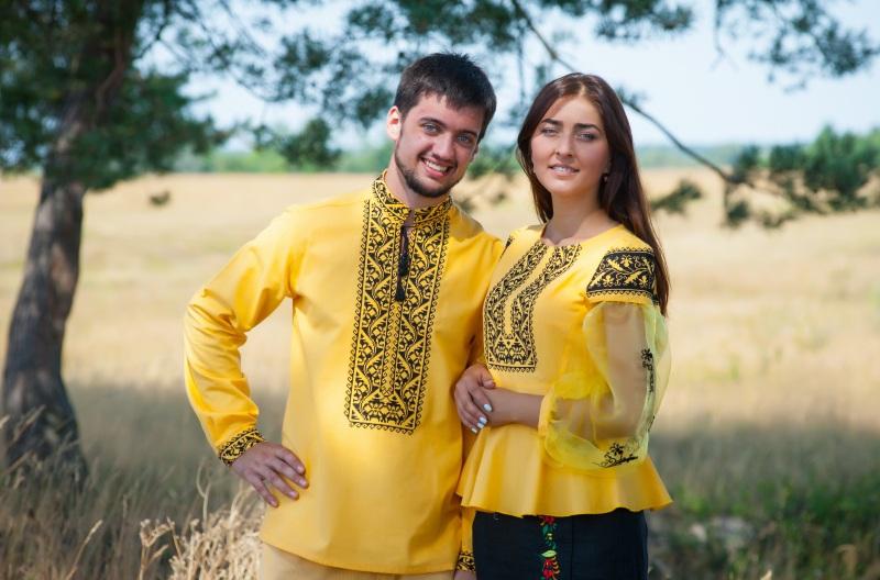 Рубашка Ч 7139 Желтый 100% хлопок Chichka - фото 4