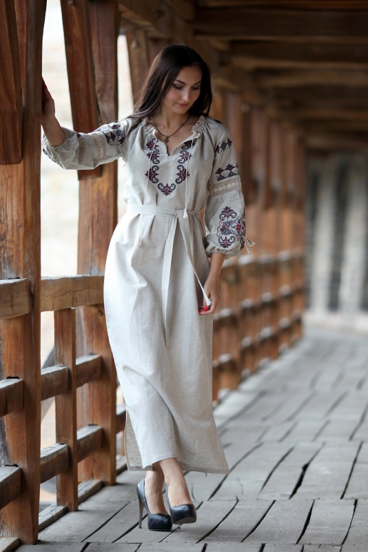 Платье Ч 7080 Белый 100% лен + натуральное кр Chichka - фото 2