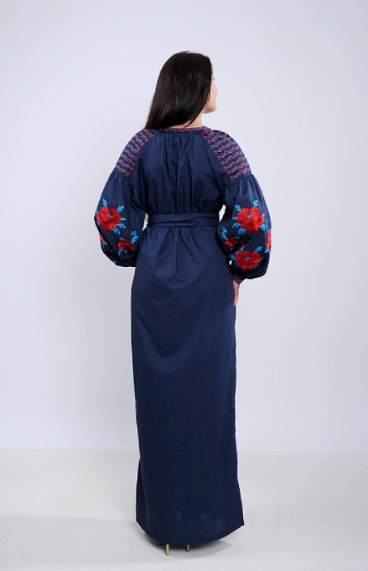 Платье Ч 7259 Синий бавовна Chichka - фото 3