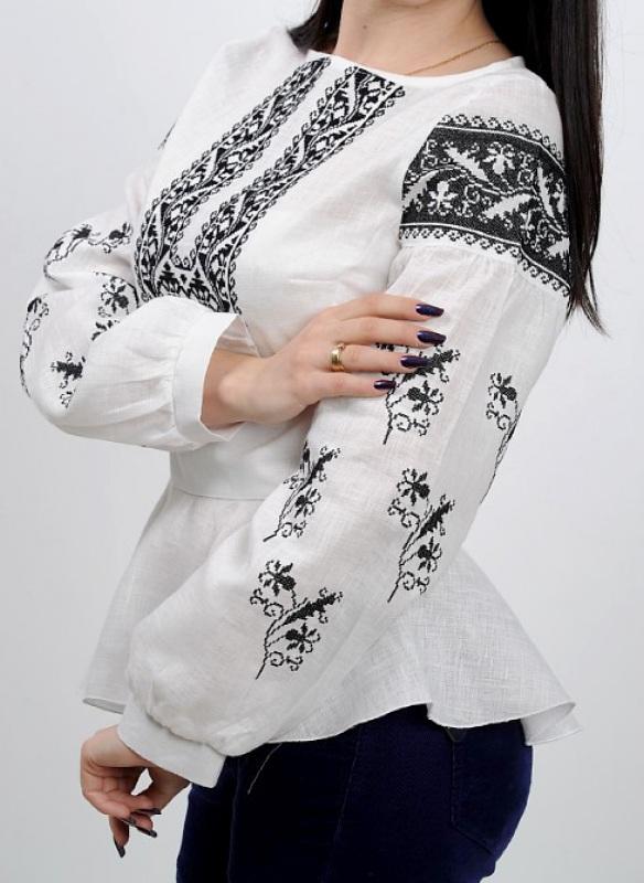 Рубашка Ч 7231 Белый 100% лен Chichka - фото 2