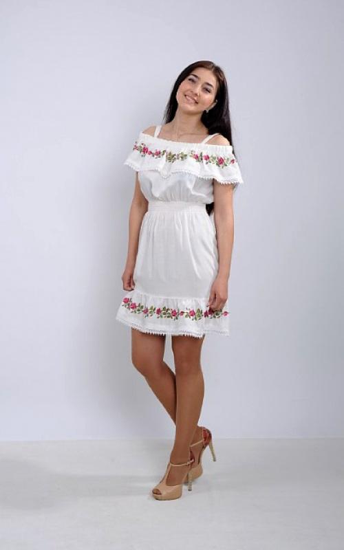 Платье Ч 7264 Белый штапель Chichka - фото 3