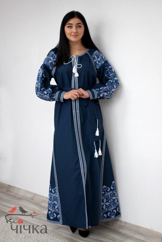 Платье Ч 7269 Синий Итальянский 100% хлопок Chichka - фото 2