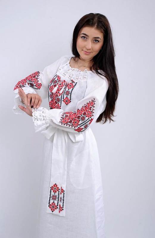 Платье Ч 7250 Белый 100% лен Chichka - фото 3