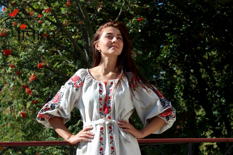 Платье Ч 7203 Белый 100% лен Chichka - фото 7