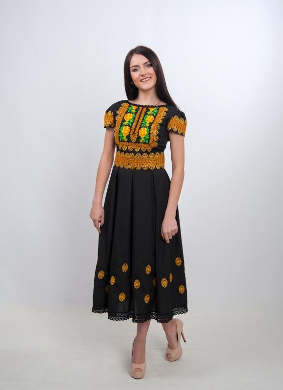 Платье Ч 7257 Черный 100% хлопок Chichka - фото 1