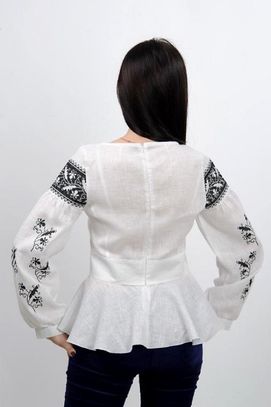 Рубашка Ч 7231 Белый 100% лен Chichka - фото 4
