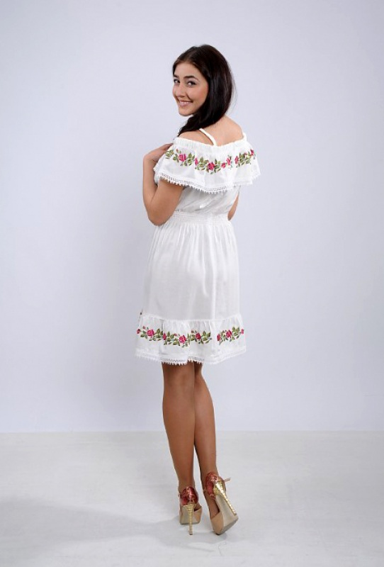 Платье Ч 7264 Белый штапель Chichka - фото 2