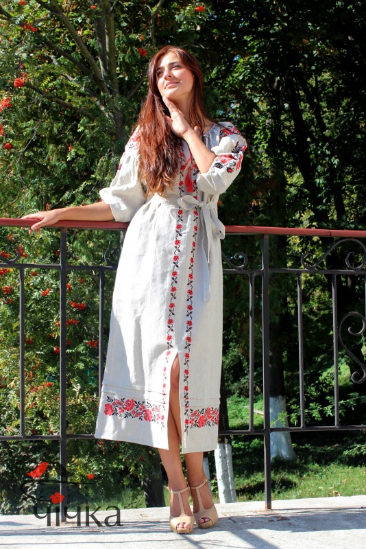 Платье Ч 7203 Белый 100% лен Chichka - фото 5