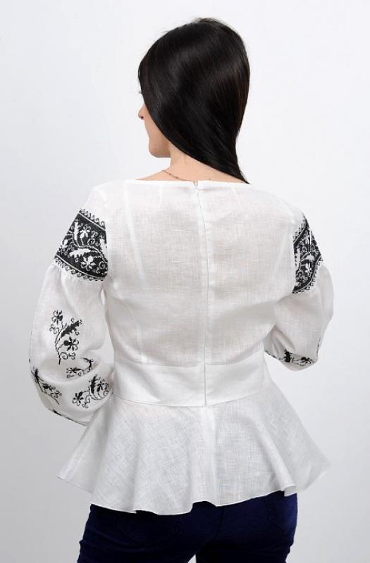Рубашка Ч 7231 Белый 100% лен Chichka - фото 3