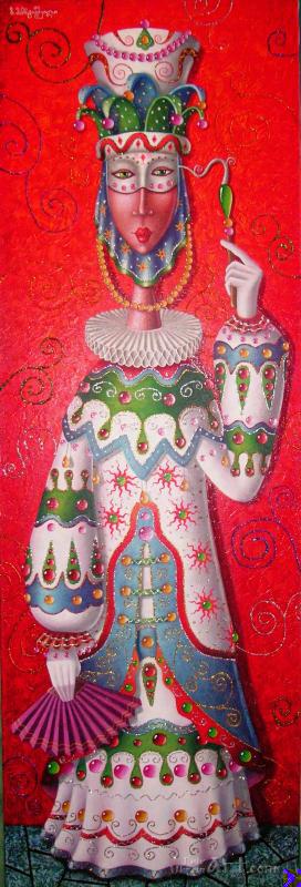 """Венецианский карнавал""  холст, масло Мартиашвили Зураб - фото 1"
