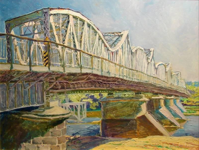 """""""Мост через  Вислу""""  холст Скринник – Миська Дарья - фото 1"""