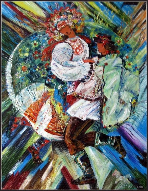 """Свадьба. Молодые""  холст, масло Федына Роман и Надежда - фото 1"