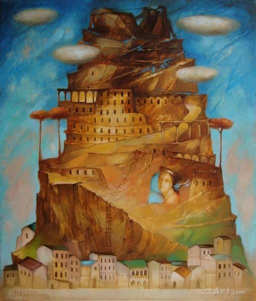 """Вавилонская башня""  холст, масло Деревьянко Наталия - фото 1"