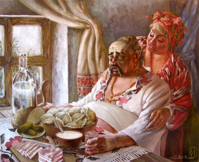 """""""Отчаянный казак""""  холст, масло Иванов Александр - фото 1"""