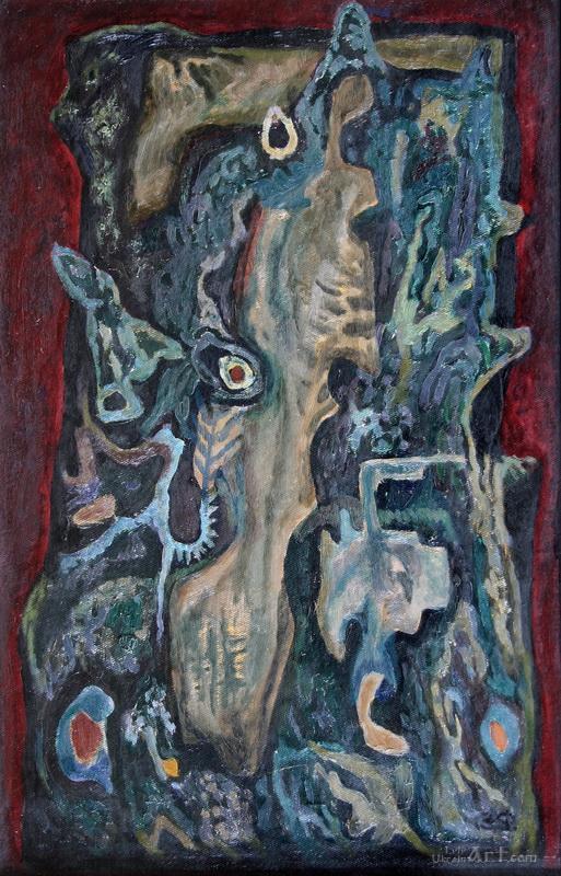 """""""Старое дерево""""  картон, масло Флинта Зеновий - фото 1"""