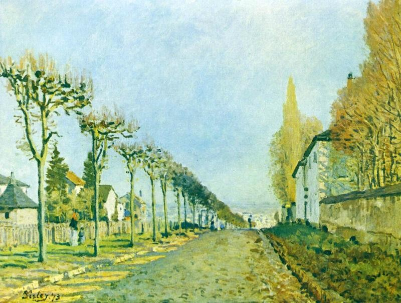 Дорога в Север близ Лувесьена  печать на холсте, натянут Сислей Альфред - фото 1