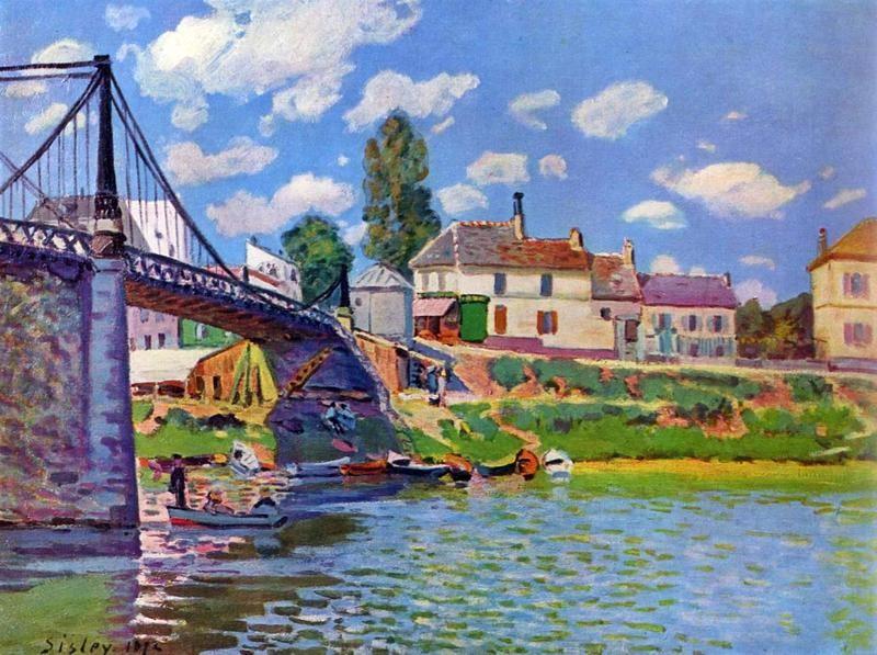 Мост в Аржантее  печать на холсте, натянут Сислей Альфред - фото 1