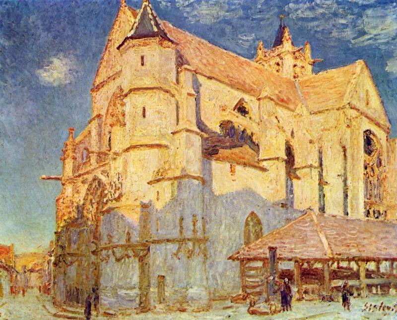 Церковь в Море  печать на холсте, натянут Сислей Альфред - фото 1