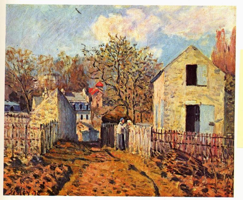 Деревня Вуазен  печать на холсте, натянут Сислей Альфред - фото 1