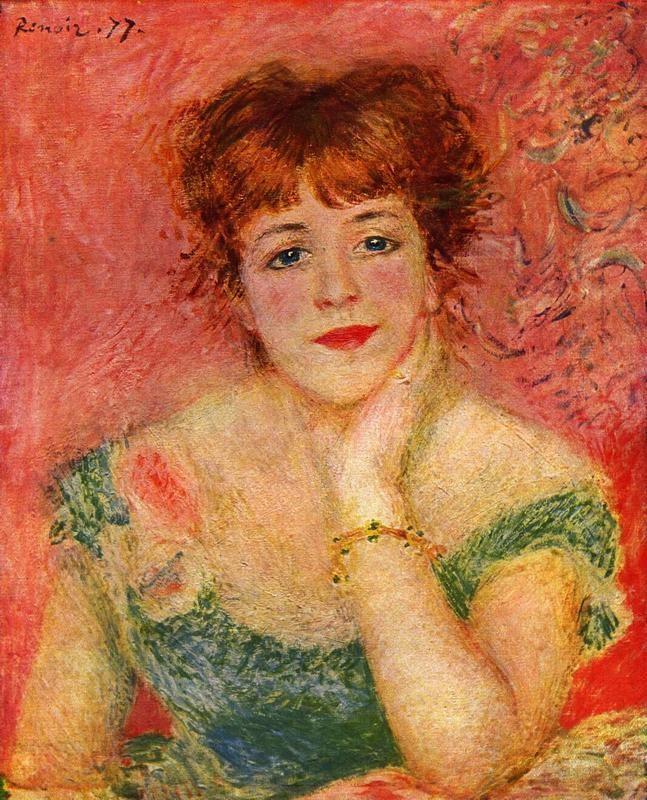 Портрет Жанны Самари  печать на холсте, натянут Ренуар Огюст - фото 1