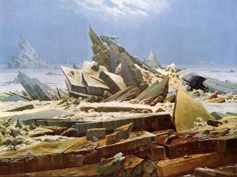 Полярное море  печать на холсте, натянут Фридрих Каспар - фото 1