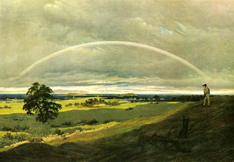 Пейзаж с радугой  печать на холсте, натянут Фридрих Каспар - фото 1