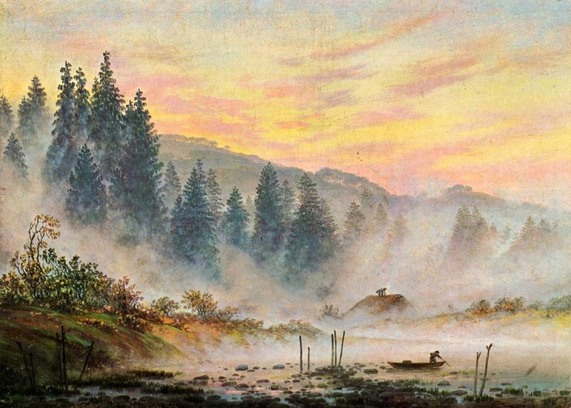 Утро  печать на холсте, натянут Фридрих Каспар - фото 1