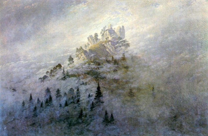 Утренний туман в горах  печать на холсте, натянут Фридрих Каспар - фото 1