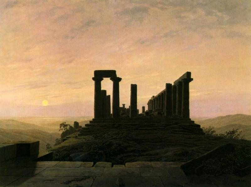 Храм Юноны в Агригенте  печать на холсте, натянут Фридрих Каспар - фото 1
