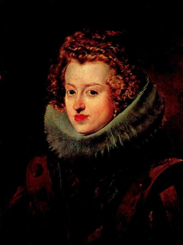 Портрет инфанты Марии Австрийской  печать на холсте, натянут Веласкес Диего - фото 1