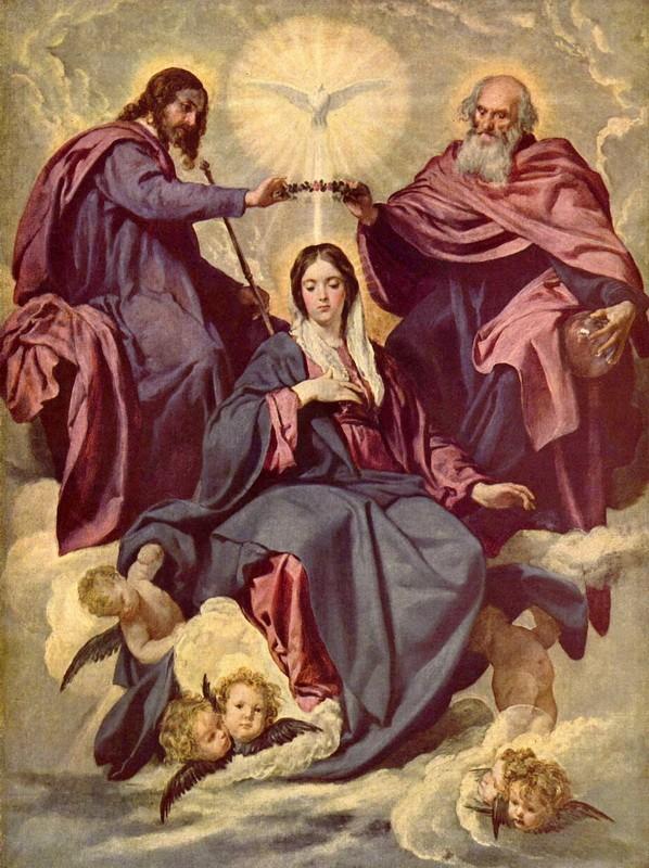 Коронование Марии  печать на холсте, натянут Веласкес Диего - фото 1