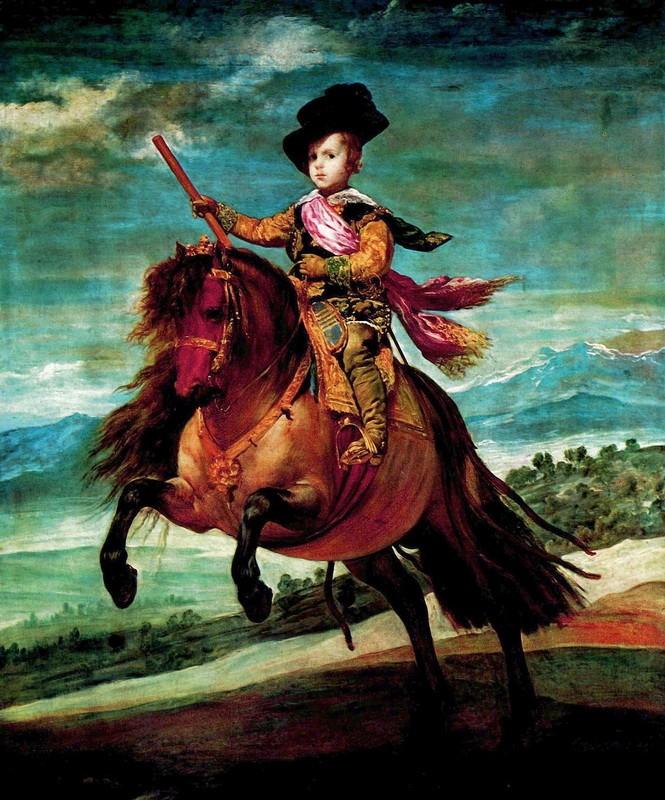Конный портрет принца Балтазара Карлоса  печать на холсте, натянут Веласкес Диего - фото 1