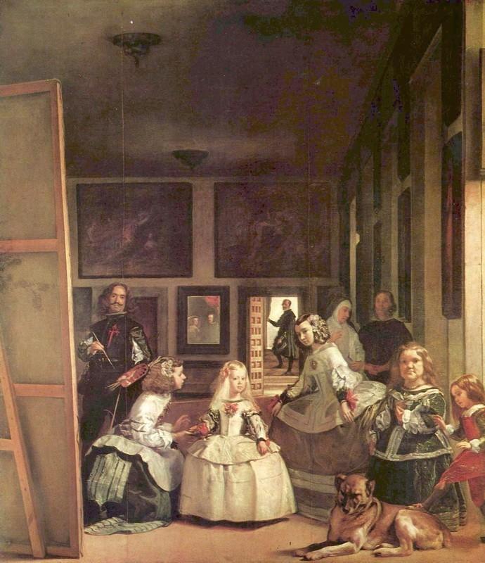 Менины (автопортрет с членами королевской семьи)  печать на холсте, натянут Веласкес Диего - фото 1