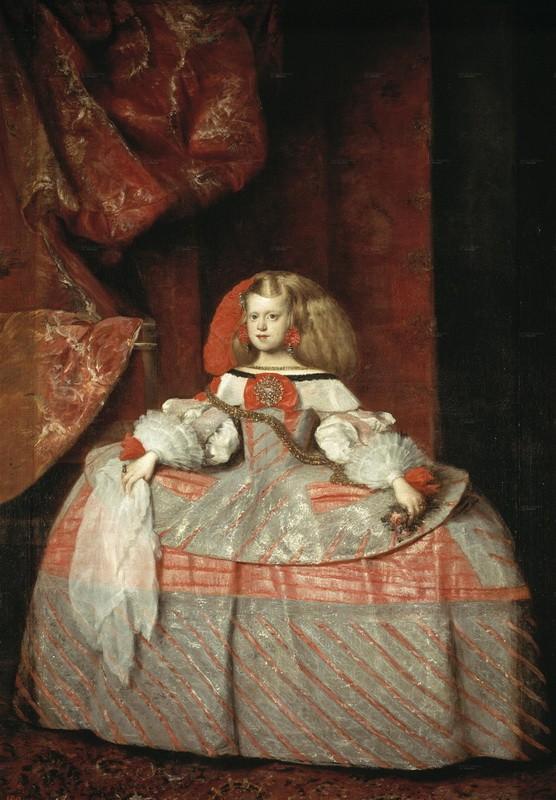 Портрет инфанты Маргариты  печать на холсте, натянут Веласкес Диего - фото 1