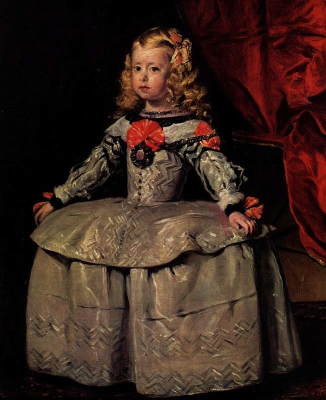 Портрет инфанты Маргариты в трехлетнем возрасте  печать на холсте, натянут Веласкес Диего - фото 1