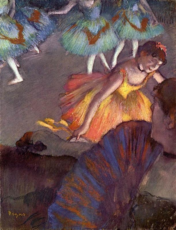Балетный спектакль - вид на сцену из ложи  печать на холсте, натянут Дега Эдгар - фото 1