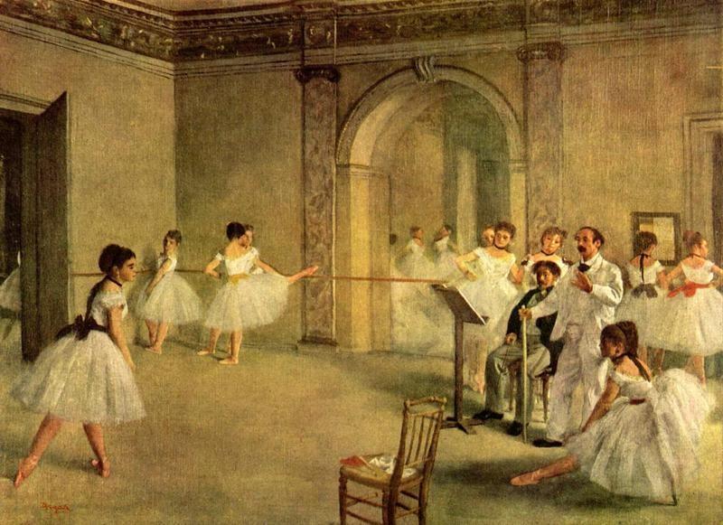 Балетный класс Оперы на улице Пелетье  печать на холсте, натянут Дега Эдгар - фото 1