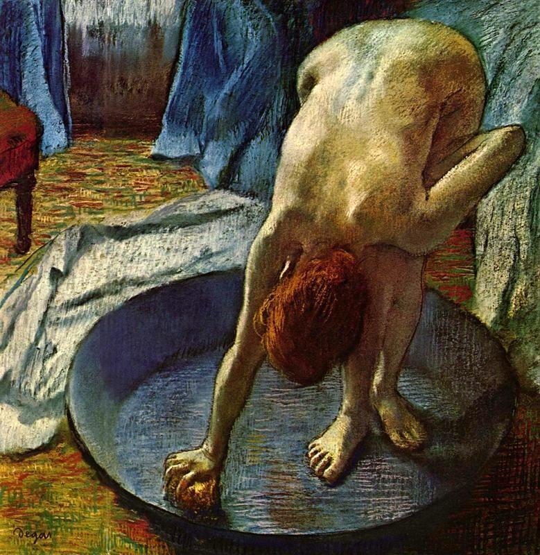 Женщина в ванне  печать на холсте, натянут Дега Эдгар - фото 1