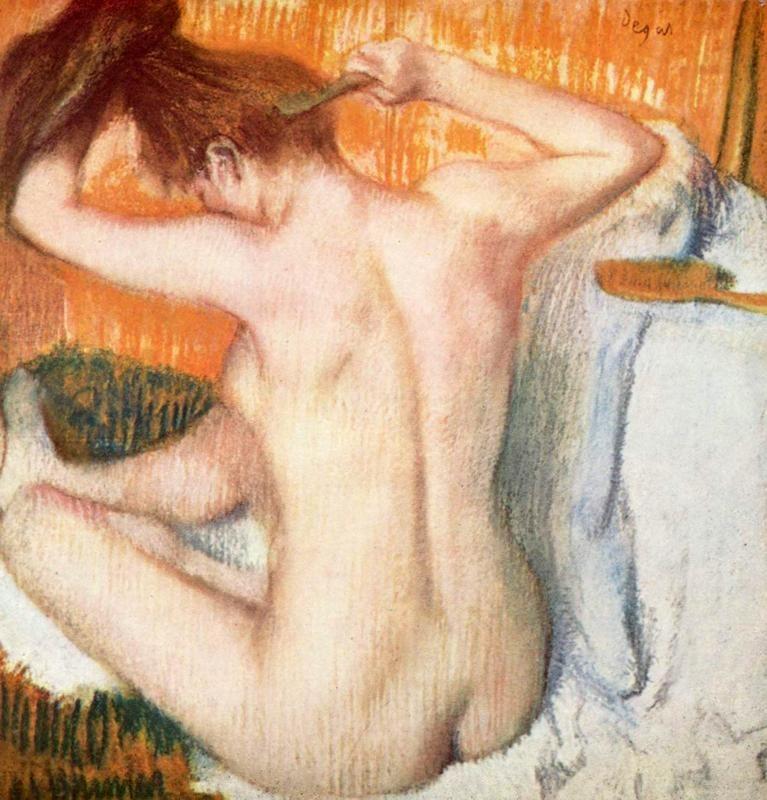 Женщина за туалетом  печать на холсте, натянут Дега Эдгар - фото 1