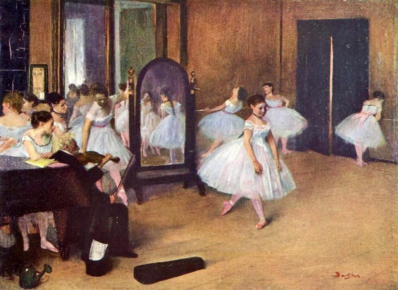 Танцевальный зал  печать на холсте, натянут Дега Эдгар - фото 1