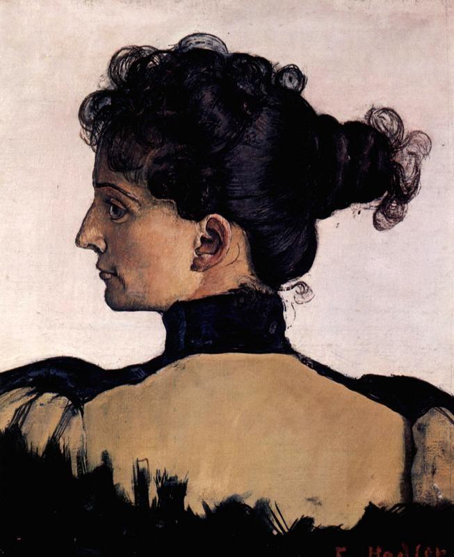 Портрет Берты Жак, жены художника  печать на холсте, натянут Ходлер Фердинанд - фото 1