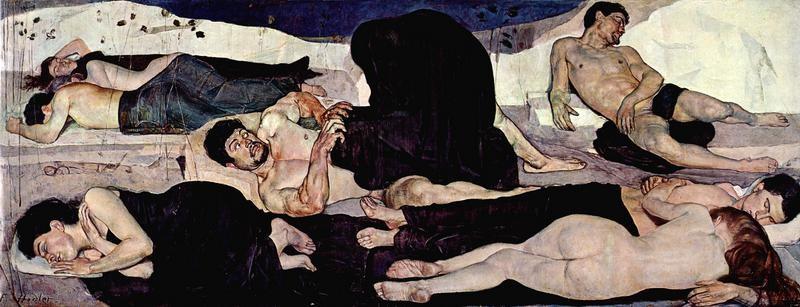Ночь  печать на холсте, натянут Ходлер Фердинанд - фото 1