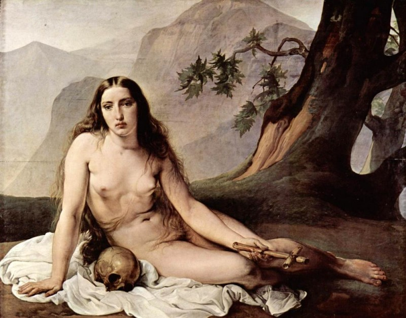 Кающаяся Мария Магдалина  печать на холсте, натянут Хайес Франческо - фото 1