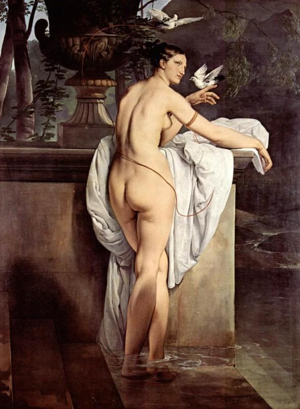 Портрет балерины Карлотты Шабер в виде Венеры  печать на холсте, натянут Хайес Франческо - фото 1