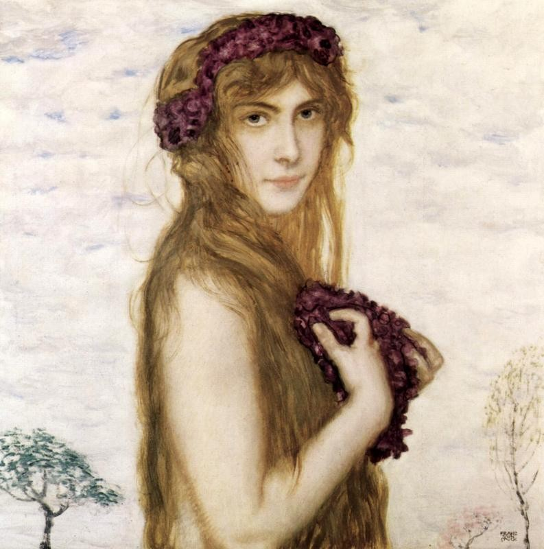Весна  печать на холсте, натянут Штук Франц фон - фото 1