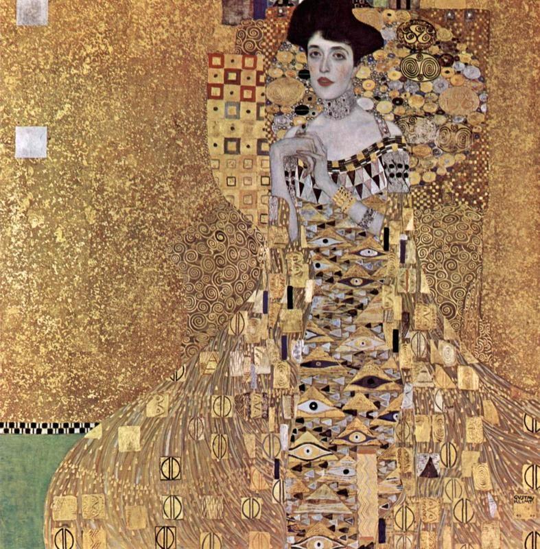 Портрет Адели Блох-Бауэр  печать на холсте, натянут Климт Густав - фото 1