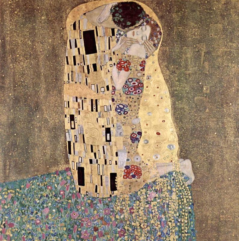 Поцелуй  печать на холсте, натянут Климт Густав - фото 1