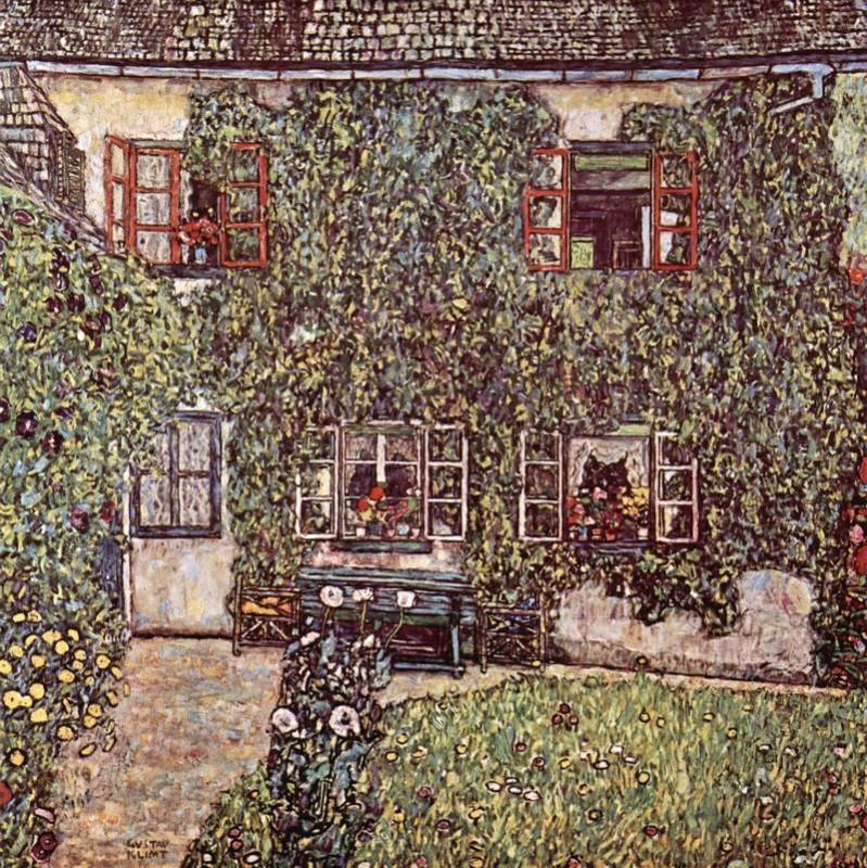 Дом Гвардабоски  печать на холсте, натянут Климт Густав - фото 1