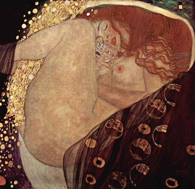 Даная  печать на холсте, натянут Климт Густав - фото 1